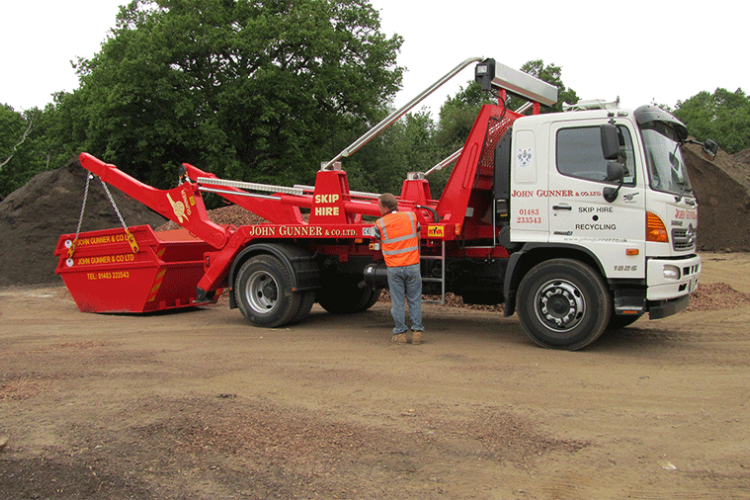 Skip Truck Loading - Farnborough